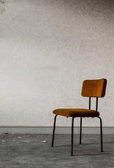 A room of silence (think4d) Tags: abandonedplace chair decay dirt dreck einfacheszene eisenach fürstenhof rost rust simplescene stuhl tapete wallpaper