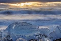 Ice (nicolas.fernandez85) Tags: ice beach landscape seascape blue light nikon d750 iceland diamond iceberg winter