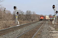 Southbound CN COFC Train On CN Bala Subdivision At GO Transit Gormlry GO Station With CN 8890 EMD SD70M-2 On Point Follow By CN 2289 GE ES44DC (drum118) Tags: ontariophoto yorkregionphoto cnrail cncofctrainoncnbalasubdivision atgotransitgormleygostation cn8890emdsd70m2 onpointfollowby cn2289gees44dc