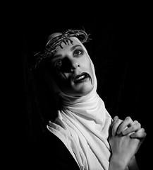 Santa (Mathias Mocci) Tags: mathiasmocci santa saint blood christian pray goth dark gothic god blackandwhite bw photoshop light dramatic
