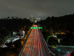 Speedway to DTLA (mcalma68) Tags: dtla los angeles california night highway cityscape