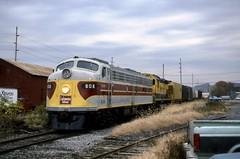 NRHS E8 808 NYSW C430 3008 Oct1991d (ironmike9) Tags: track rail rr railroad railway freight train e8a c430 alco locomotive nrhs dlw delawarelackawannawestern nysw newyorksusquehannawestern sherburneny