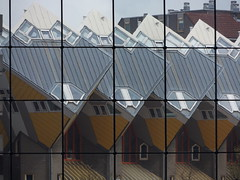 Cube Houses from inside the Market Hall, Rotterdam, Netherlands, 16 April 2017 (AndrewDixon2812) Tags: rotterdam netherlands holland zuidholland cube houses piet blom market hall blaak