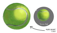 Tennis Ball (Drawn in Photoshop by Wacom)