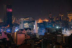 Buenos Aires (karinavera) Tags: travel aerial argentina longexposure view buenosaires night cityscape building architecture city