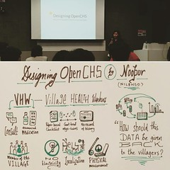 #Sketchnotes from @9porcupine's talk at #odcblr2017 on designing OpenCHS that enables Village Health Workers to collect data better. #Bangalore #design #event #ux #india (Rasagy Sharma) Tags: instagramapp square squareformat iphoneography uploaded:by=instagram reyes