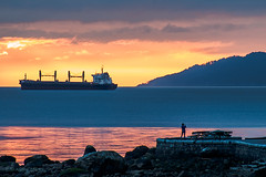 Smelling the Sunset 🌅 Vancouver, BC (Michael Thornquist) Tags: stanleypark secondbeach englishbay bowenisland bulkcarrier ship cargoship sunset salishsea straitofgeorgia vancouver britishcolumbia dailyhivevan vancitybuzz vancouverisawesome veryvancouver 604now photos604 explorecanada ilovebc vancouverbc vancouvercanada vancity pacificnorthwest pnw metrovancouver gvrd canada