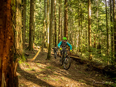 Sunny days sunny smiles on the right trail! (kendyck1) Tags: fil fromme lindsey mountainbike mountainbiking spring snowbiking