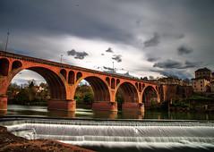 The Pont Neuf D'Albi (Steff Photographie) Tags: albi art architecture beautiful beautifulpictures canon 6d exterieur flickr bridge hdr landscape magnifique nature nuages water