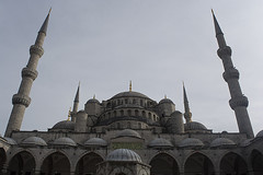 Sultan Ahmet Mosque (Kirlikedi) Tags: clouds dome god islam minaret mosque obelisk religion sky worship