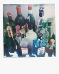 Apero (gmouret92) Tags: polaroid slr680 integral impossible color 600 bouteille alcool bottle