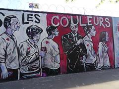 Mélenchons les couleurs (Jeanne Menjoulet) Tags: mélenchon couleurs streetart wall mur bureaudevote heolart pollingstation frenchpresidentialelections franceinsoumise rueordener paris