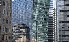 Urban puzzle (baladeson) Tags: architecture france europe hautsdeseine idf îledefrance paris buildings bâtiments ladéfense façades reflets reflections bâtiment ville city
