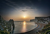 Sunset At Durdle Door (A Guy Taking Pictures) Tags: sunset photo durdle door dorset sony a6000 camera hdr 5xp cliffs hills mountains sea sand stone sun orange blue green taken tripod evening calm