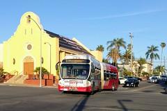 MTS Bus (So Cal Metro) Tags: bus metro transit mts sandiegotransit sandiego artic articulated articulatedbus nabi 60brt 1000 bus1022 rt7 hillcrest
