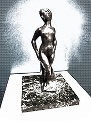 Auguste Rodin - Psyche (Steve Taylor (Photography)) Tags: augusterodin psyche french plinth art digital sculpture statue black blue brown metal bronze newzealand nz southisland canterbury christchurch city texture artgallery nude naked