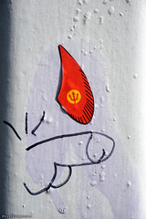 Red Devils supporter (Red Cathedral [FB theRealRedCathedral ]) Tags: sony a6000 sonyalpha mirrorless streetart graffiti alpha penis cock belgianreddevils rode duivels diables rouges dick urbanart contemporaryart mechelen muizen