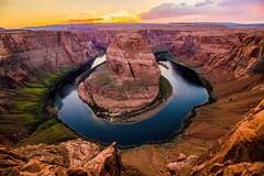 IMG_0423 (ghostbaum) Tags: sunset page arizona cliff view navajo indian tribe sun landscape horseshoe bend horseshoebend canyon river