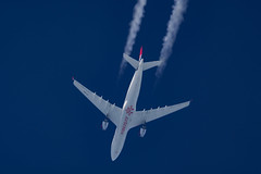 Air Serbia Airbus A330-202 YU-ARA (Thames Air) Tags: air serbia airbus a330202 yuara contrails telescope dobsonian overhead vapour trail
