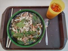 Cafeteria pho (MFinChina) Tags: pho food iatethis green bowl noodles basil chopsticks hongkong cuhk