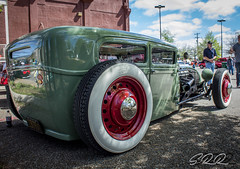 Low Down (Scott Werkheiser) Tags: automobile low rider white walls green car show chattanooga tn chrome red hot rod vintage custom