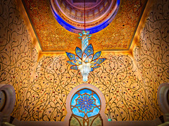The Lights In The Mosque (Stuck in Customs) Tags: abudhabi hasselblad stuckincustoms treyratcliff uae trey ratcliff temple horizontal colour color day daytime dailyphoto rr symmetry symmetrical outdoor outdoors outside hdr hdrphotography hdrphoto aurorahdrpro aurorahdr macphun mosque white blue grey black brown gold sky clouds building worship religion people h5d hcd 28 february 2016 p2017 architecture bright skyline palace ceiling indoor chandelier