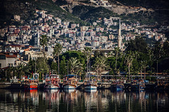 Attention (Melissa Maples) Tags: alanya turkey türkiye asia 土耳其 nikon d3300 ニコン 尼康 nikkor afs 18200mm f3556g 18200mmf3556g vr mediterranean sea water harbour marina boats spring reflection
