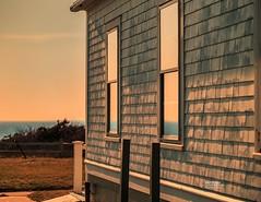 Cape Cod - Coast Guard Station (Dapixara) Tags: goldenhour nationalparks eastham capecodnationalseashore reflection coast guard station windows dapixara photography capecod massachusetts usa