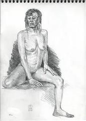 2017 04 10 Nu Chantal 02 (karl_nemo1954) Tags: nu femme dessin croquis crayon modèlevivant