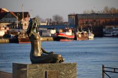 Definitely icon of Ustka (navarrodave80) Tags: mermaid blurbackground bokeh harbour boats sculpture shine sunny ustka poland nikon d3300 davechmiel chmiel icon