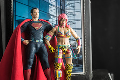 Superman and Asuka (misterperturbed) Tags: batmanvsupermandawnofjustice dccomics jla justiceleagueofamerica mezco one12collective superman wwe asuka mattel nxt