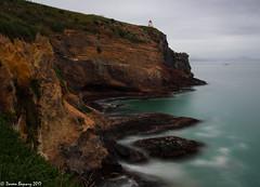 Sea of Blue (Doreen Bequary) Tags: taiaroahead headlight lighthouse newzealand otago royalalbatross sea ocean bluewater rockycoastline rocky cliff seacliffs seascape seaside d500 water blue leefilters bigstopper longexposure landscape