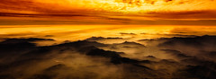 Window Seat (AdeRussell) Tags: windowseat sunset chile coast colours weather travel clouds colors