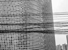 Lines and Squares (Robert Borden) Tags: lines squares buildings windows powerlines architecture bw monochrome blackandwhite beijing china asia canon canonchina canonphoto canonrebel canont5 street overpopulation urban