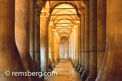 The forest of columns in the Basilica Cistern, located in Istanbul, Turkey. (Remsberg Photos) Tags: istanbul turkey basilica basilicacistern columns architecture dim holy structure beneath underground sinking ancient tur