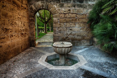 La fuente (candi...) Tags: fuente arquitectura patio piedra arbol airelibre sonya77
