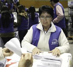 Funcionarios IDD - Reconteo de Votos (INSTITUTO DE LA DEMOCRACIA - CNE) Tags: consejo nacional electoral