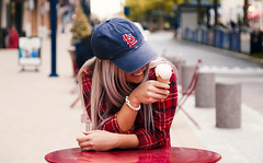 Flannel 2 (Farris Ismati) Tags: followband girl cute spring red flannel bracelet blonde cloudy lifestyle farris ismati amazing style bracelets
