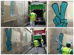 Colors of Paris (brigraff) Tags: streetart collage décollage pastedpaper pasteup wheatpast nettoyage karcher paris brigraff