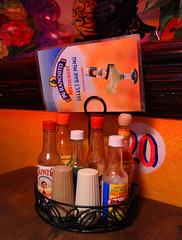 Hot Sauce (arbyreed) Tags: arbyreed restaurant sauce hotsauce picantesauce tapito miranchitorestaurant orem utahcountyutah bottlesofhotsauce vernacularphotography