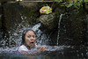 Taking a holy shower at the Tirta Empul temple in Bali, Indonesia (Tim van Woensel) Tags: tirta empul temple bali indonesia hindu balinese water tampaksiring holy spring shower ritual purification amritha purifying bath girl ubud drops travel