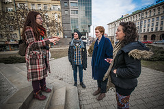 And then I met these people (Melissa Maples) Tags: софия sofia българия bulgaria europe nikon d3300 ニコン 尼康 sigma hsm 1020mm f456 1020mmf456 sofiagraffititour winter zea bulgarian tourguide woman hristina hrisi