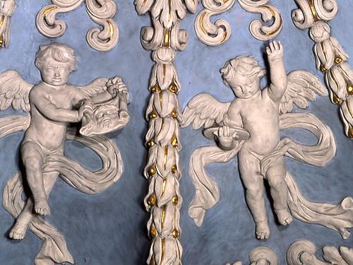 Valloire, stucs, angelots - © A.Maniak, Fondation Facim