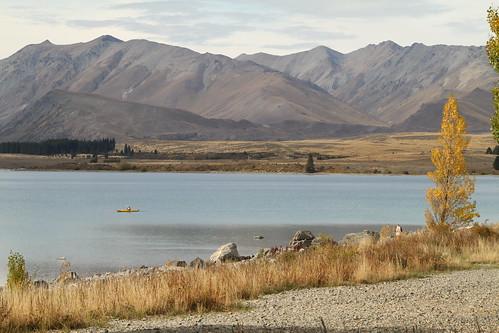 Kayakfahrer im See
