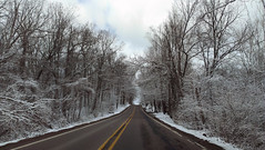 April snow (Larry the Biker) Tags: road winter snow cold spring woods snowy michigan april vernal washingtontownship