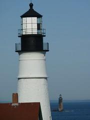Portland Headlight/Ram Island Lighthouse (lovejoykathryn) Tags: lighthouse maine portlandheadlight oldnew capeelizabeth cascobay ramislandlighthouse