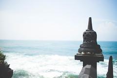 I see the Ocean everyday (hardi_wb) Tags: ocean blue sky beach statue canon indonesia stupa horizon wave bluesky yogyakarta 22mm eosm ngobaran canoneosm