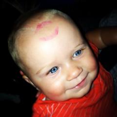 A boys first kiss. (Jon Skilling) Tags: disney disneyworld lipstick snowwhite firstkiss