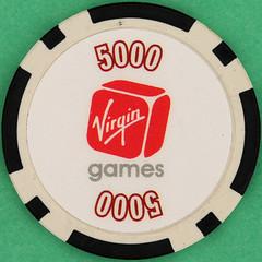 Virgin GAMES 5000 (Leo Reynolds) Tags: gambling canon eos iso100 casino poker button marker chip squaredcircle 60mm token f80 buck pokerchip 40d hpexif 0017sec 033ev xleol30x sqset103 xxx2014xxx