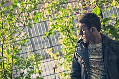 Steeled (CarbonNYC [in SF!]) Tags: portrait me selfportrait self howardlangton garden fence easter working carbonnyc carbonsf howardlangtoncommunitygarden communitygarden soma sanfrancisco sf